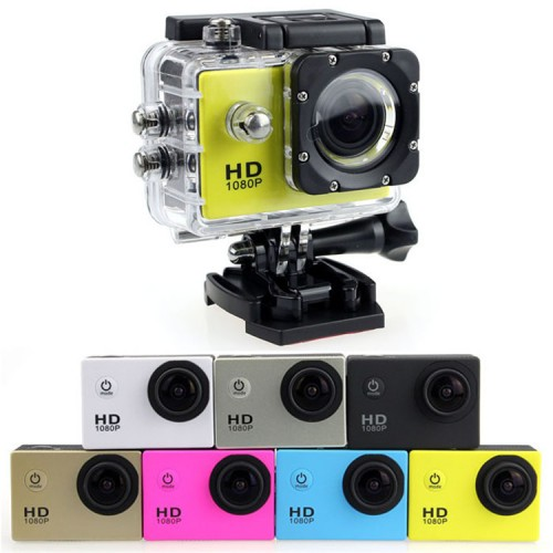 Waterproof HD Sports Camera 1080P -various colours