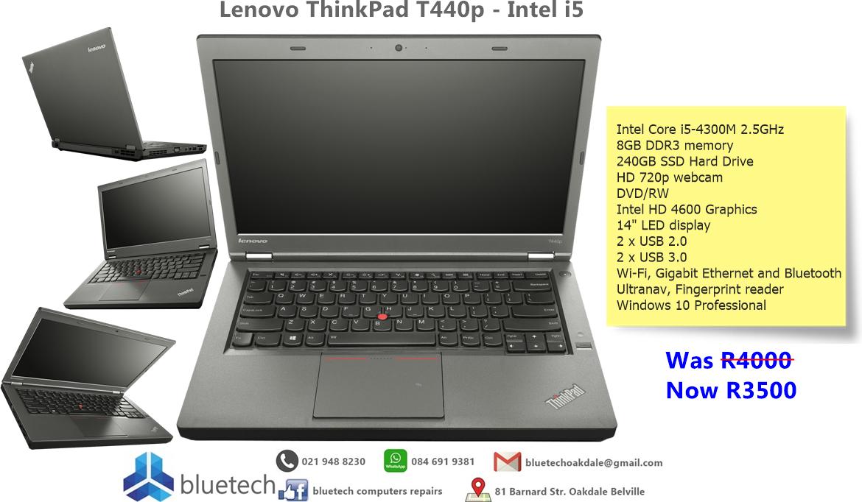 Lenovo T440P NOTEBOOK INTEL CORE i5- 4TH GEN 2.6GHZ 8GB MEMORY 240GB SSD HARD DRIVE