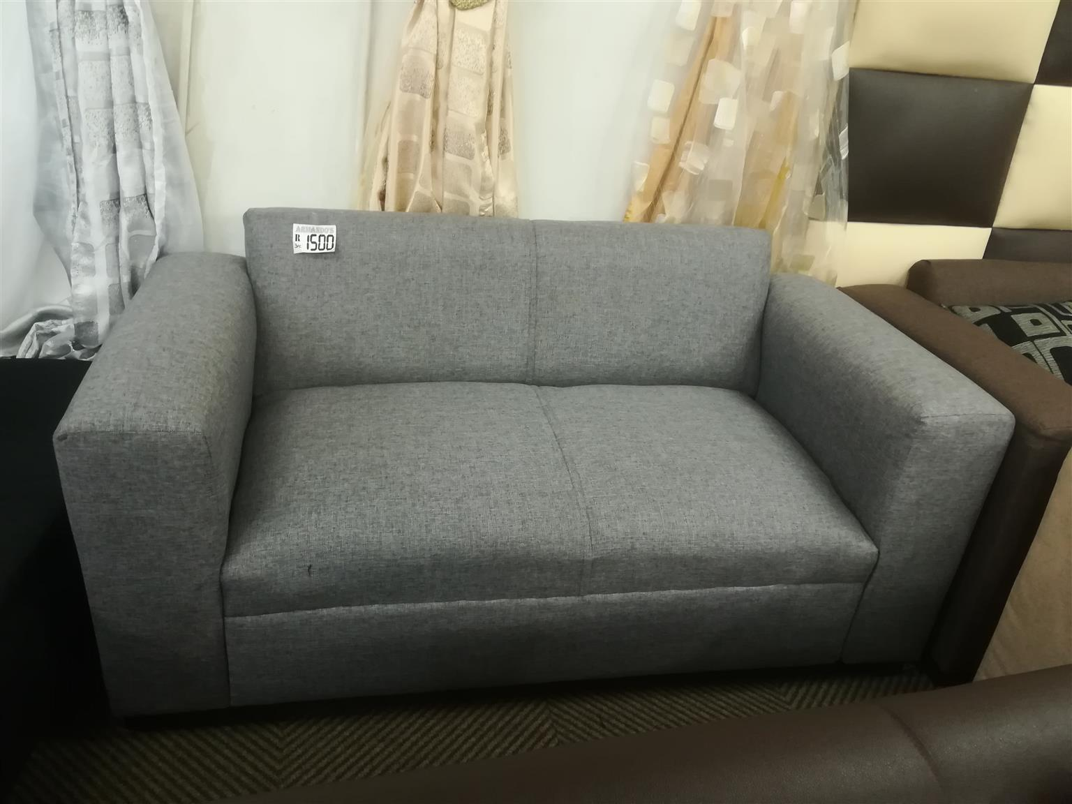 New grey fabric couch