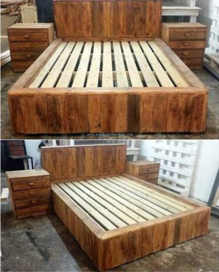 Marvelous Pallet Bedroom Furniture. Pallet Beds.custom Furniture Bedroom L