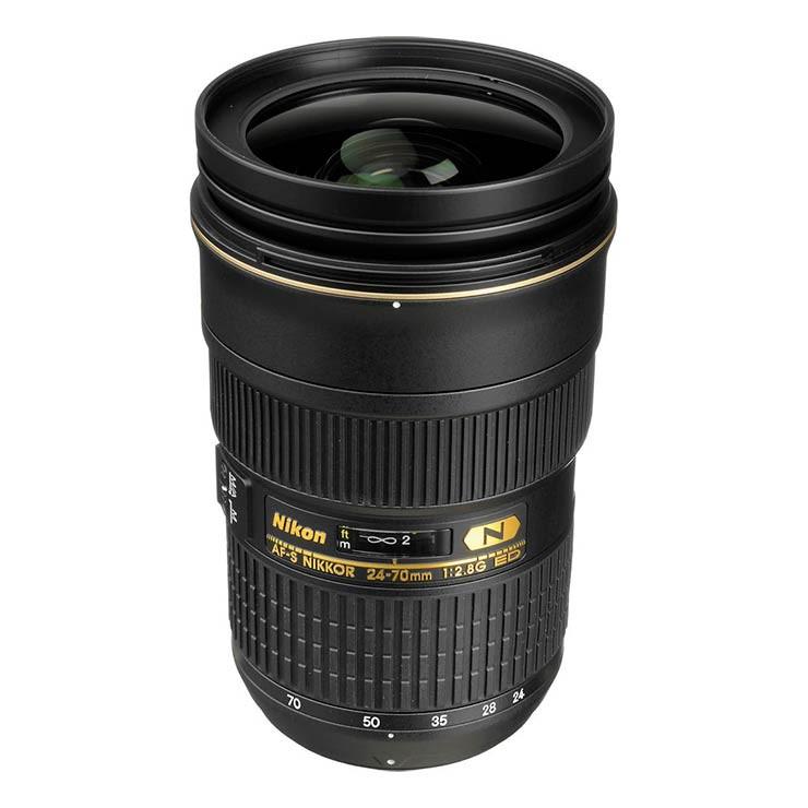 Nikon / Sigma 24-70mm - 2.8 Lens wide angle lens