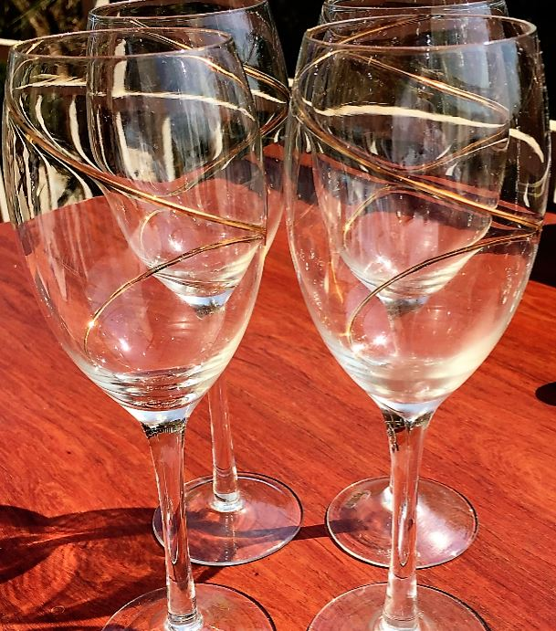 For That Special Person - 4 Regency Crystal Wine Glasses