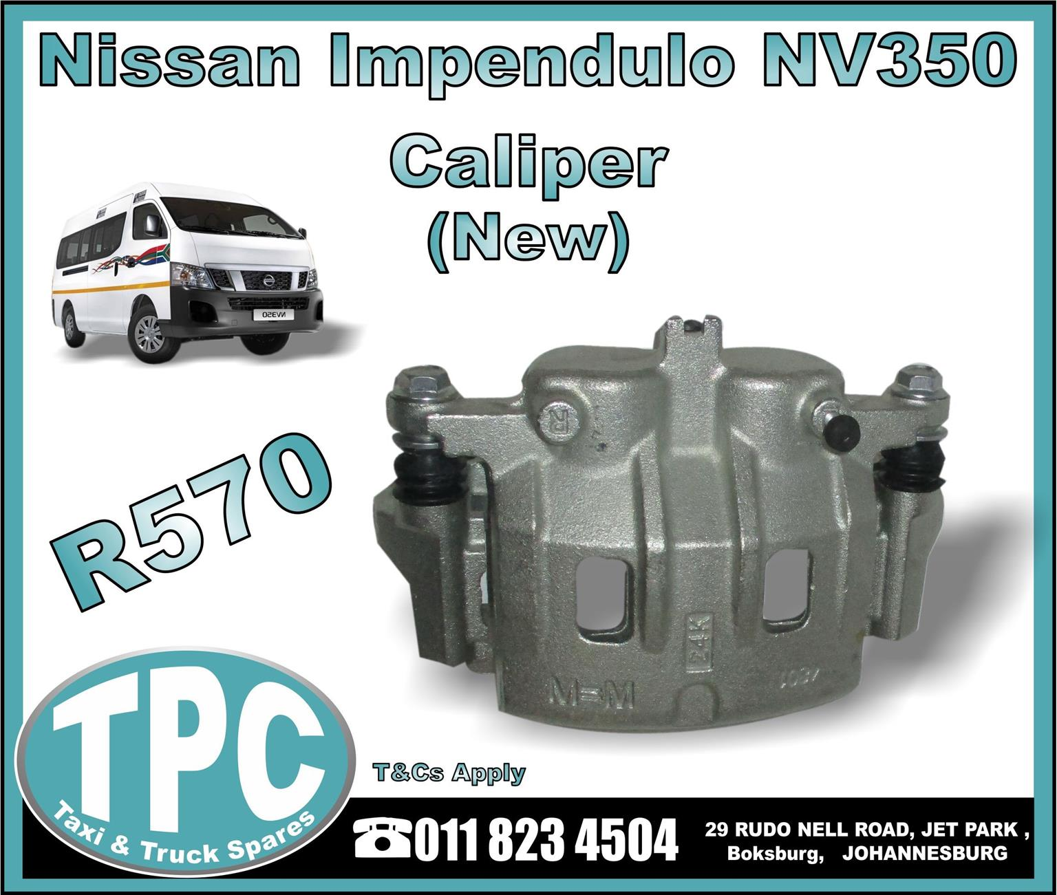 Nissan Impendulo NV350 Caliper - New And Used Replacement Taxi Parts - TPC.