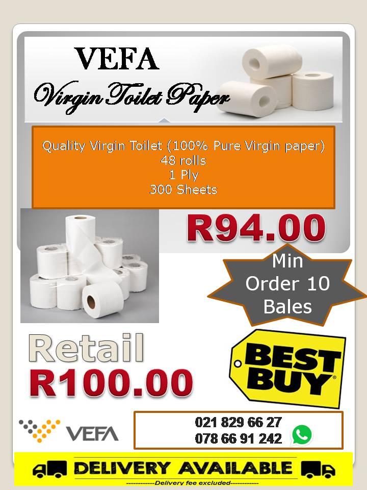 Vefa Soft Toilet Paper 48 rolls only R94