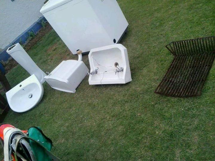 Bathroom basins and toilet bowls