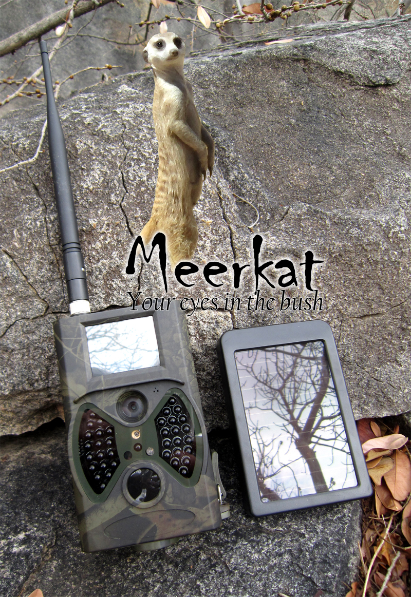 Meerkat trail camera with solar power pack (GSM enabled)