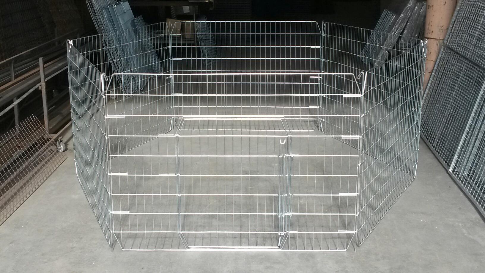 Flat folding Medium Pet Playpen – 900mm high [Steel]