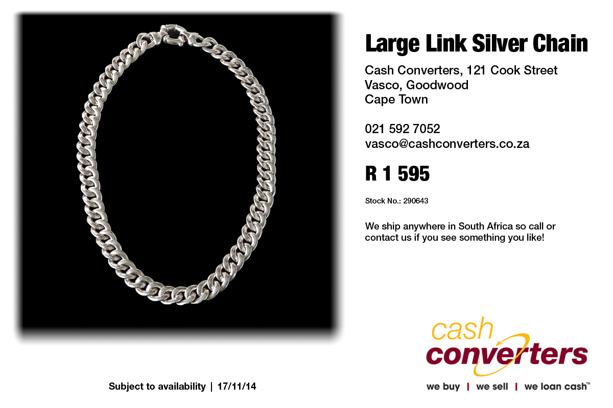 Large Link Silver Chain  38aea78bf7c8