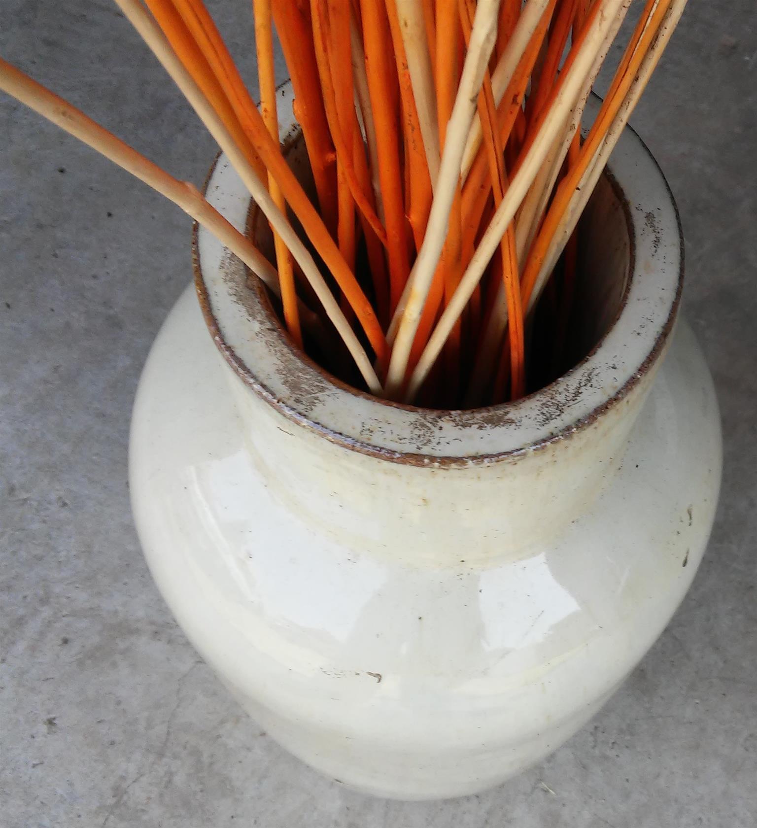 Pottery Vase - h=43cm; d=18cm; 6.2kg