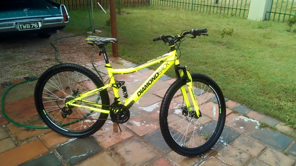 Diamond black bicycle