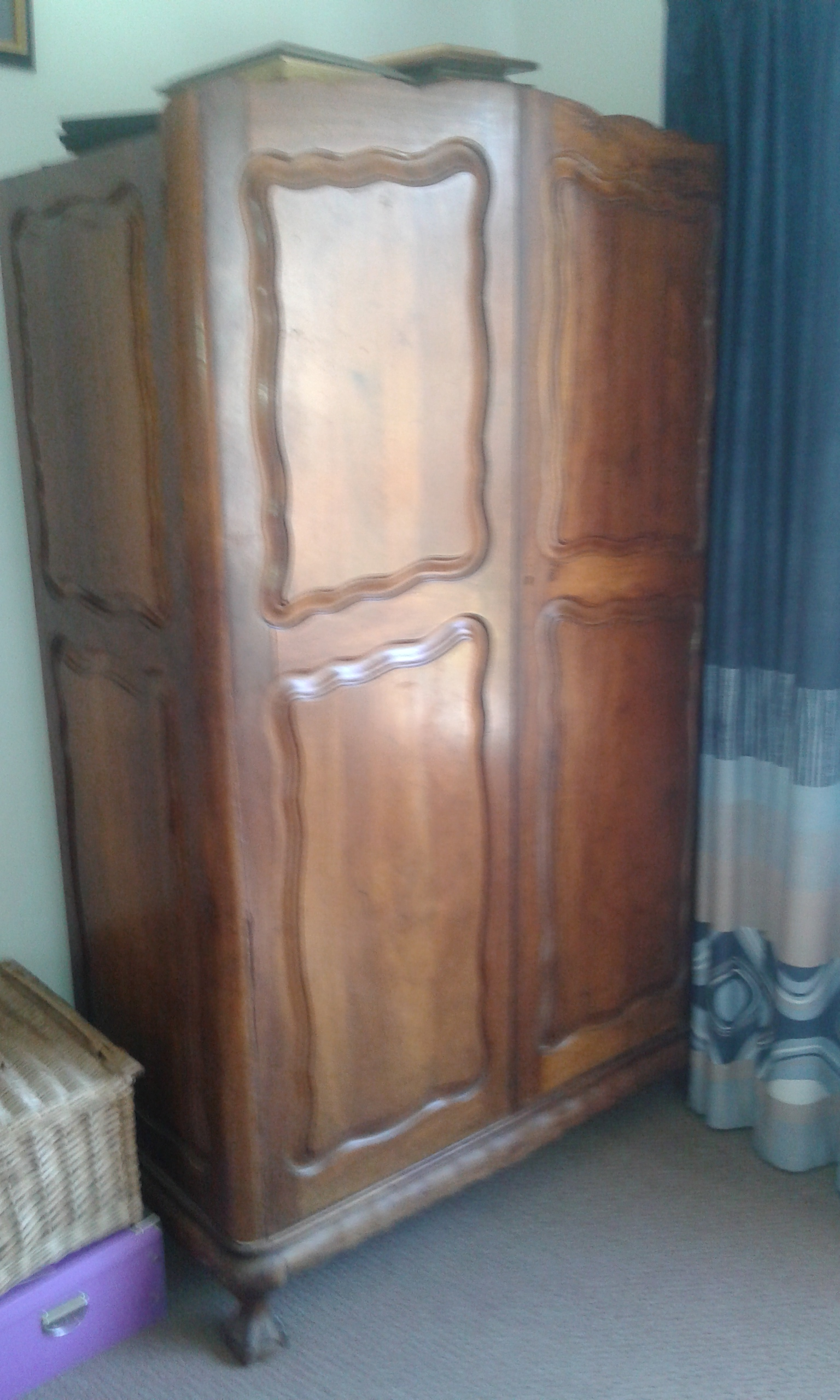 Two Door Wardrobe solid wood  Ball and Claw