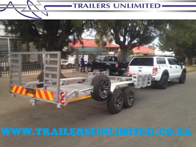 TRAILERS UNLIMITED 4800 X 2000 X 200 SILVER CAR TRAILER.