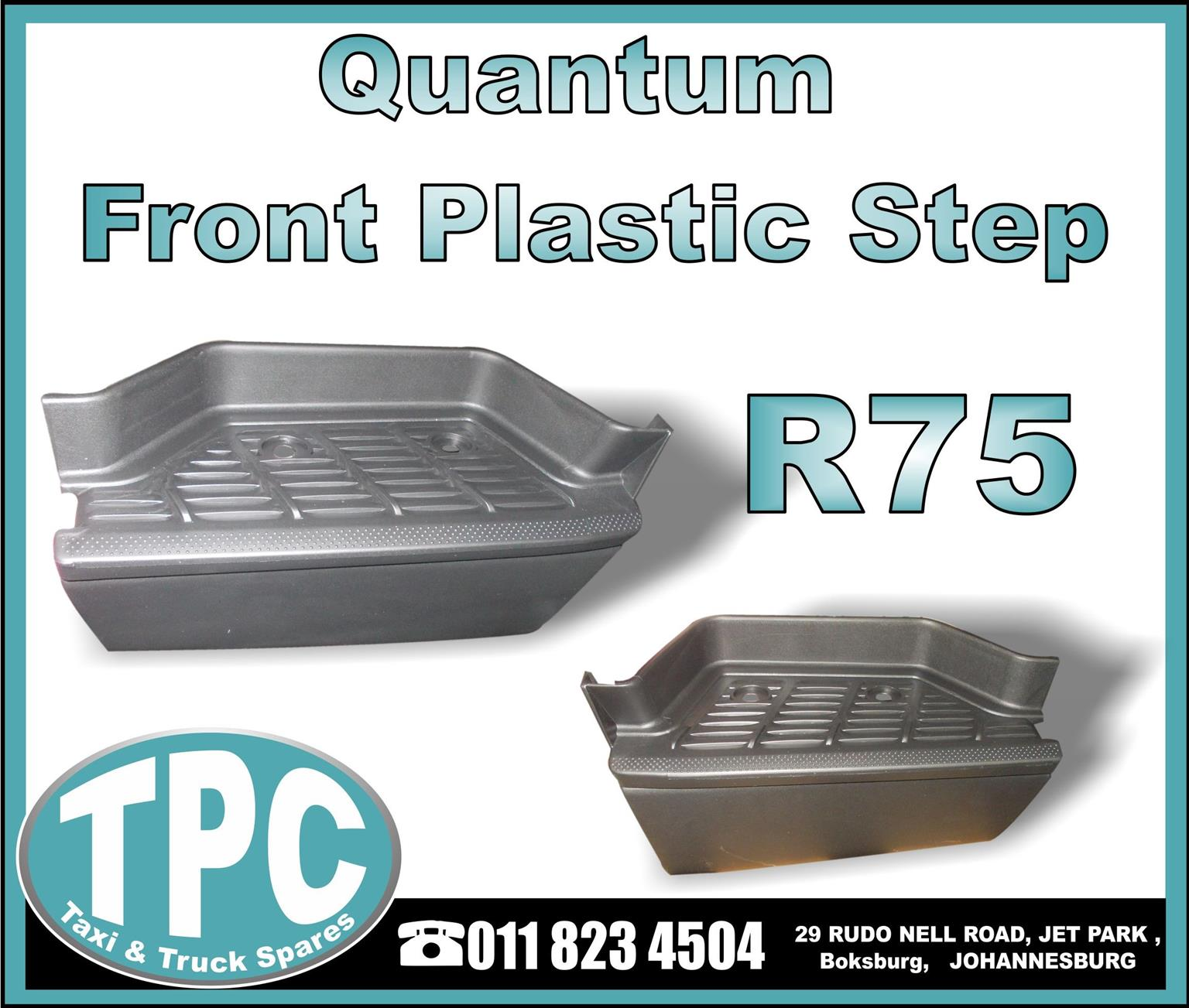 Toyota Quantum Front Plastic Step - New Replacement Parts.