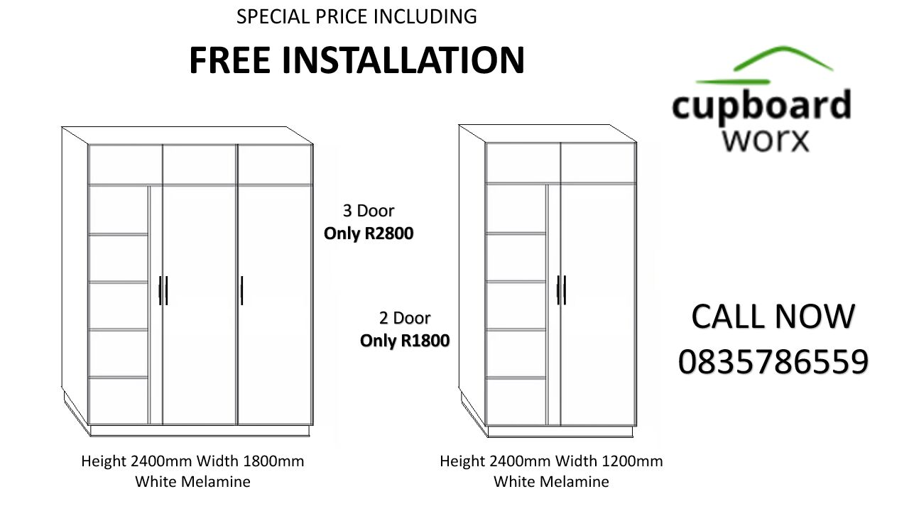 Built-In Cupboards FREE Installation