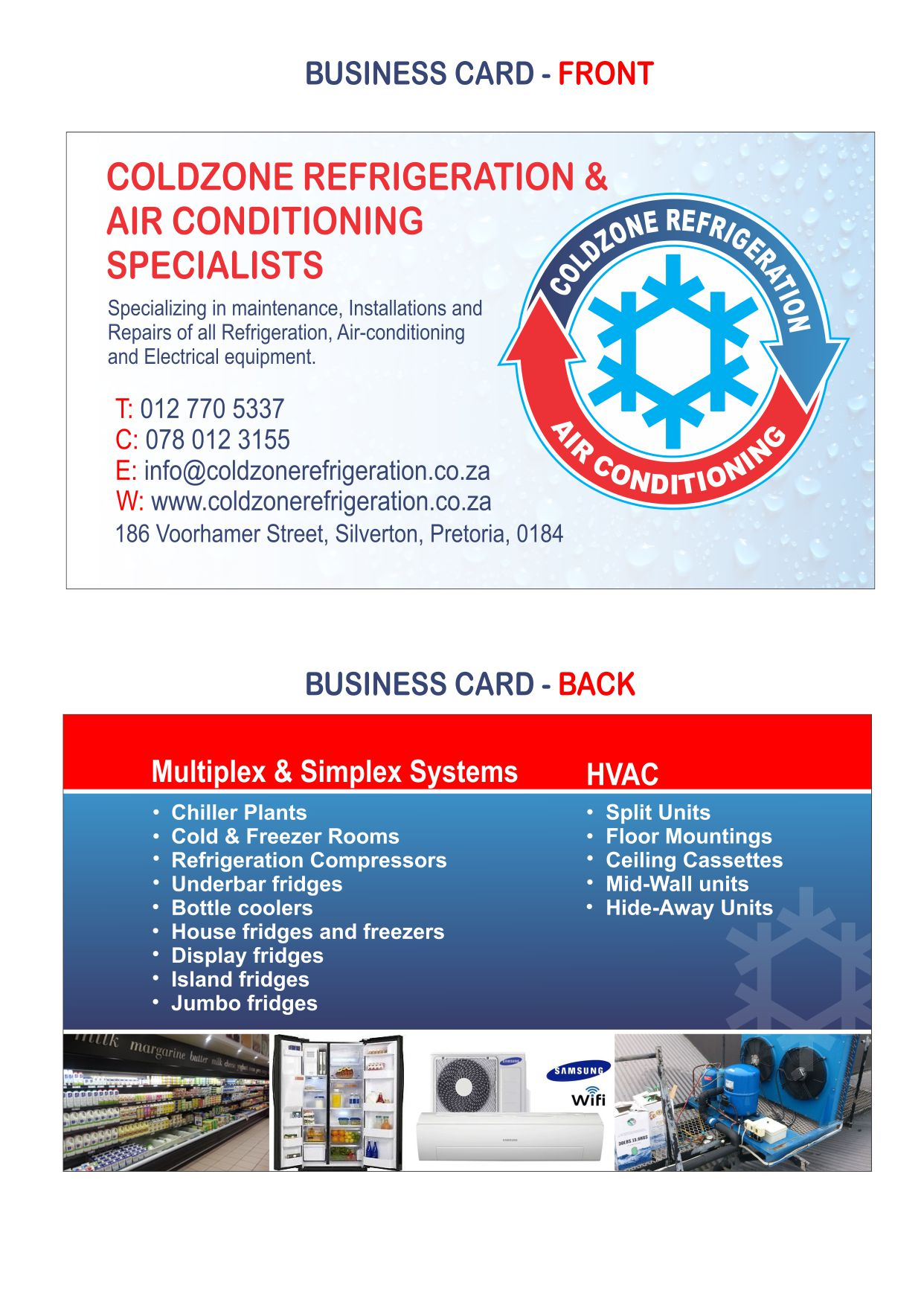 coldzone Refrigeration&Airconditioning Specialists 0127705337
