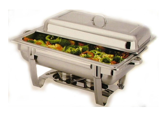 stunning stainless steel two burners chafing dish with Single Inner tray- 9 Lit