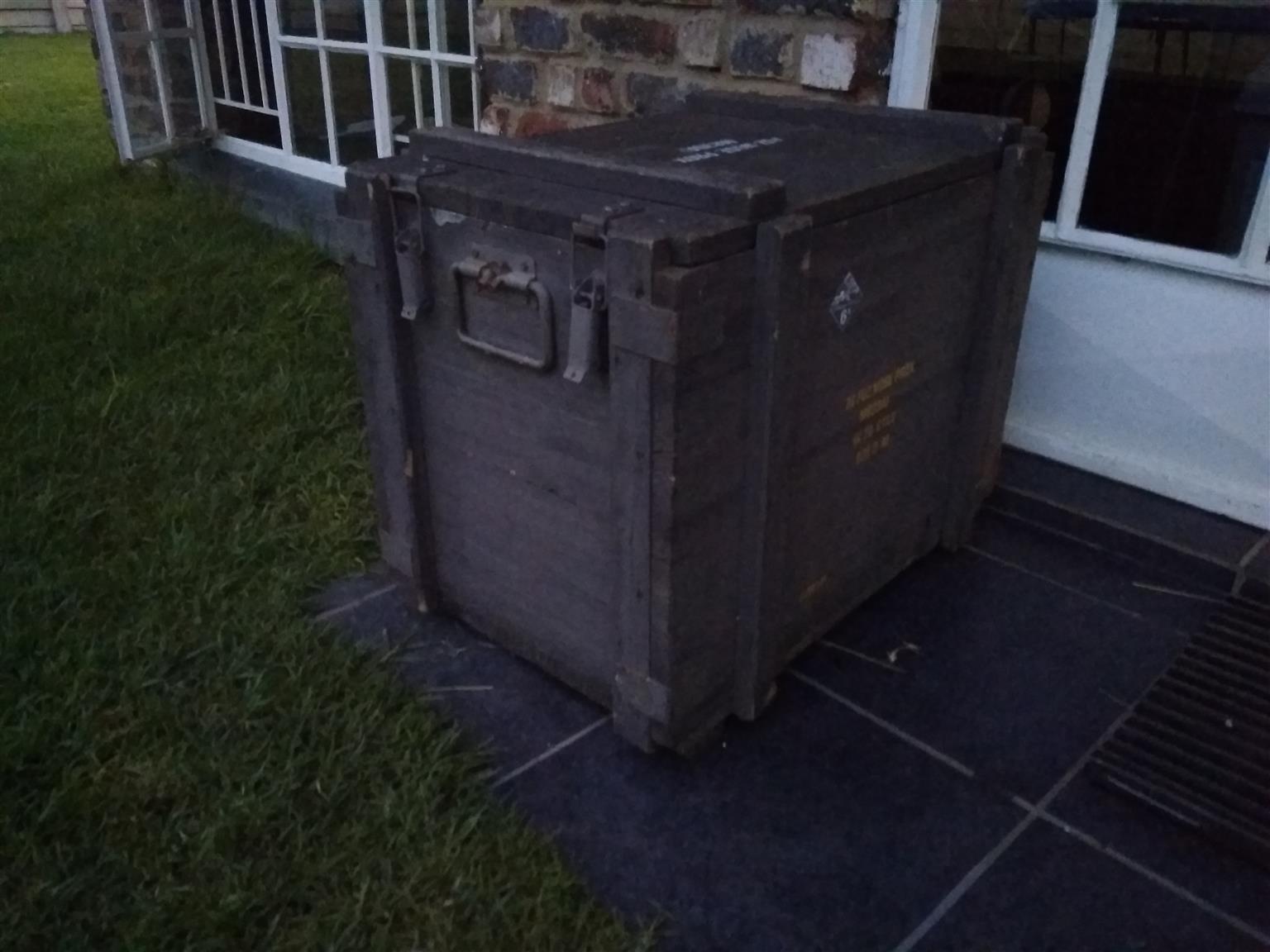 Antique Wooden Trunk (Large)