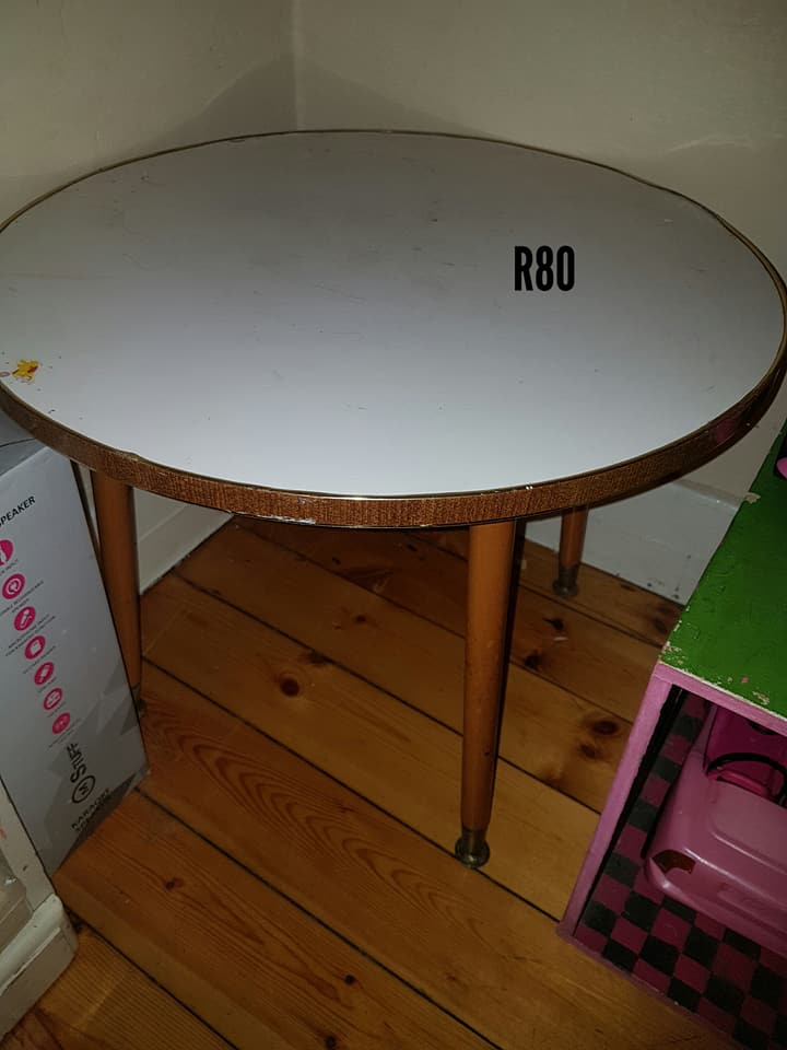 Wooden round corner table for sale