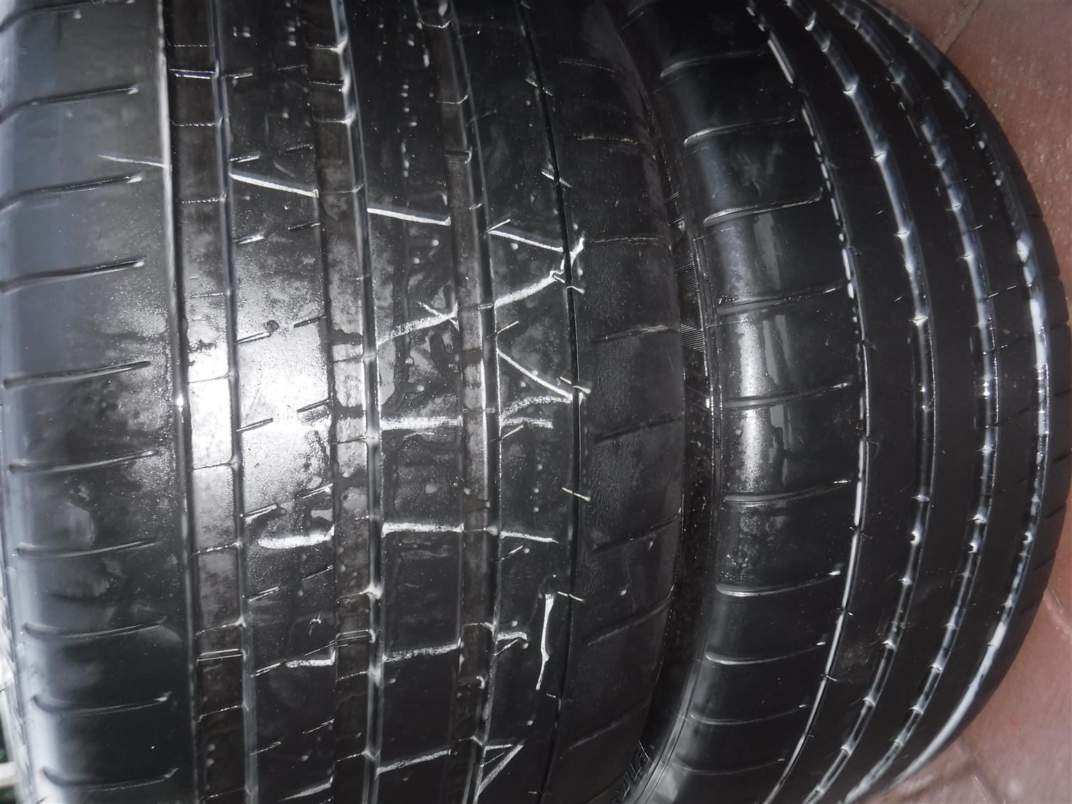 2xMichelin Pilot Supersport 265/35/20,80% thread