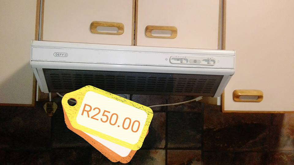 Defy cooker hood for sale