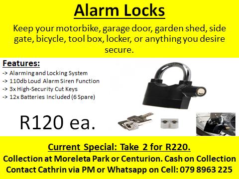 BLACK ALARM LOCKS