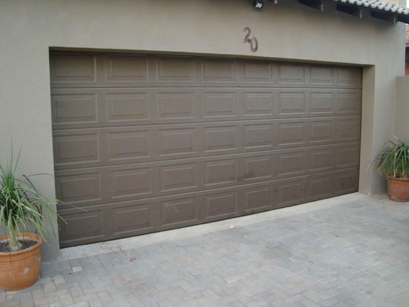 Single and double aluzinc sectional doors in Melville
