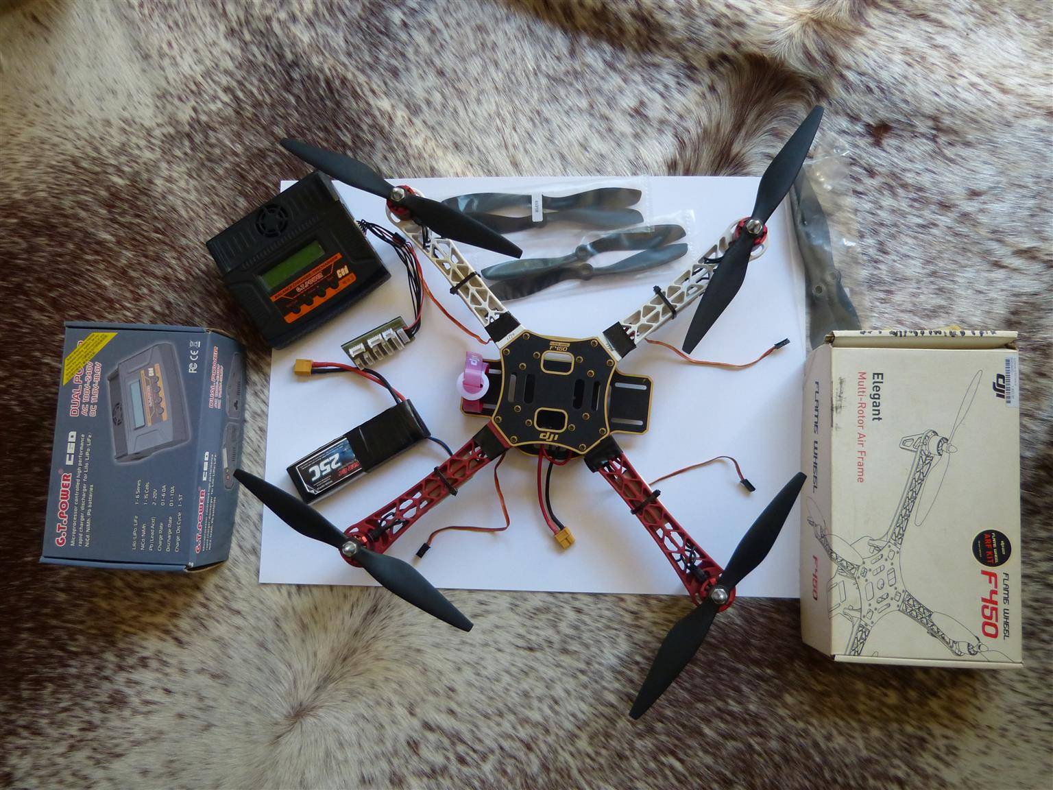 REDUCED] DJI 450 Flame Wheel Quadcopter Kit | Junk Mail