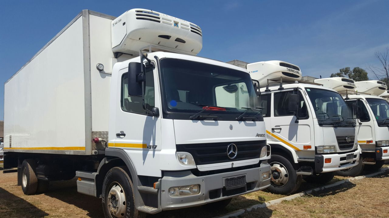 2007 Mercedes-Benz 1517 Atego Fridge Truck. MD200 Thermoking Fridge Fitted