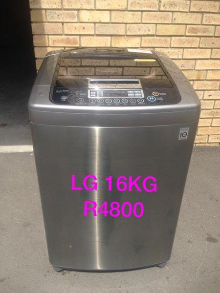 LG 16Kg washing machine.