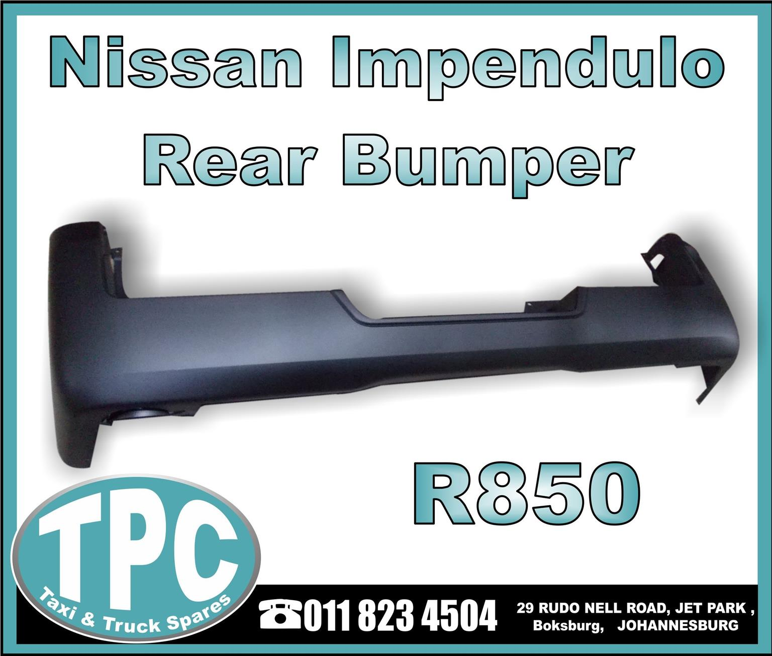 Nissan Impendulo Rear Bumper - New Replacement Parts.