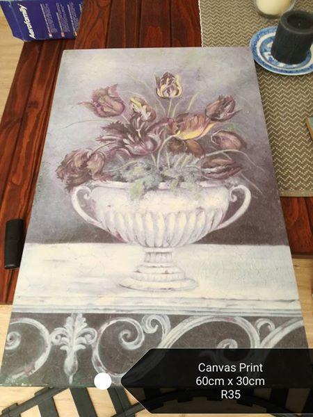 Canvas flower print