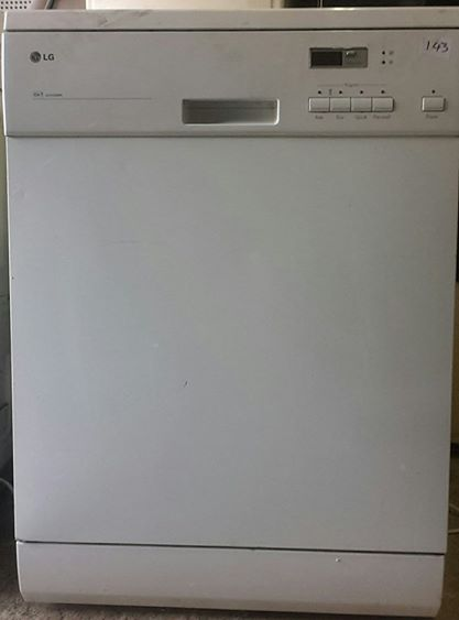 White LG dishwasher