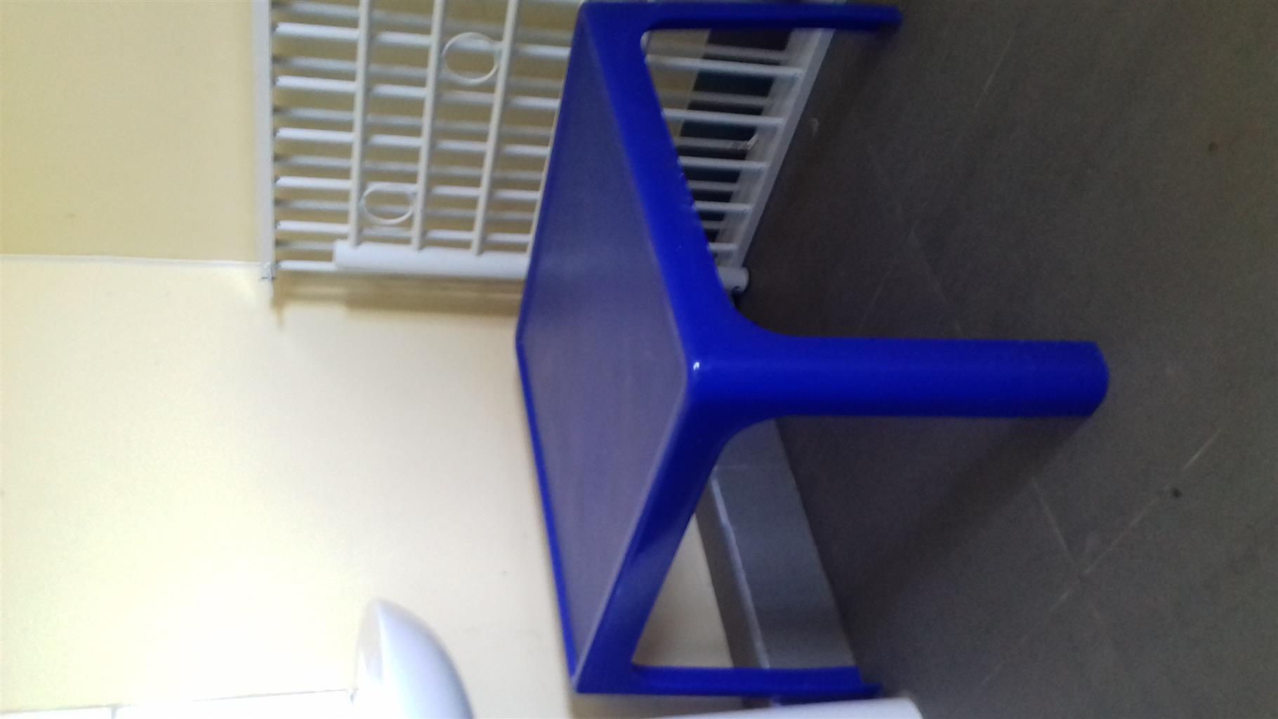 Blue plastic table