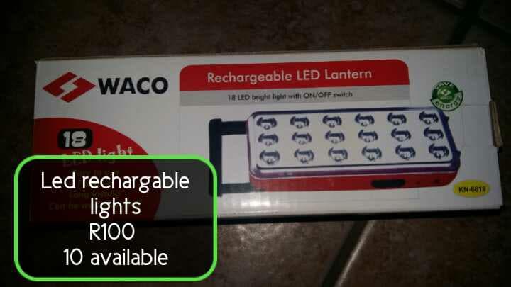 Led rechargable lights