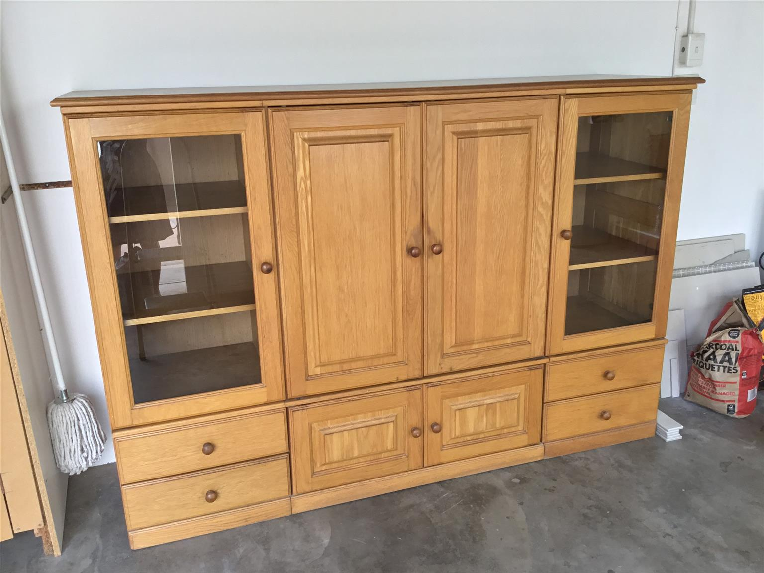Solid oak TV unit for sale