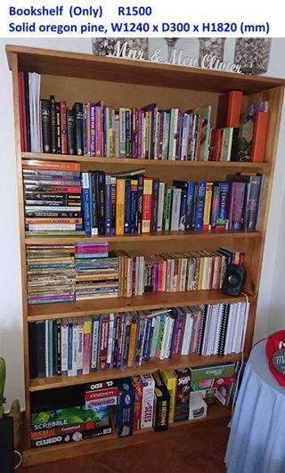 Solid oregon pine bookshelf