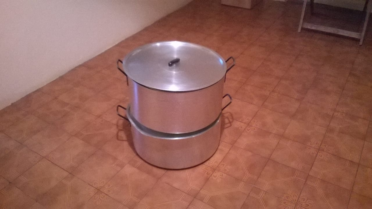 Large second hand Steel pots for sale. R250 each