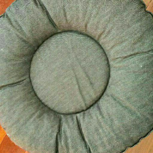 New grey denim pet bed
