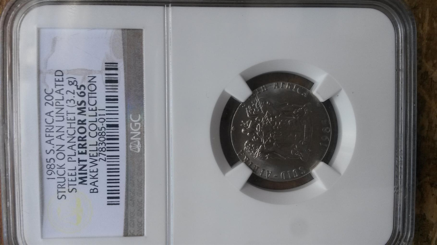 unique error coin . one graded by ngc