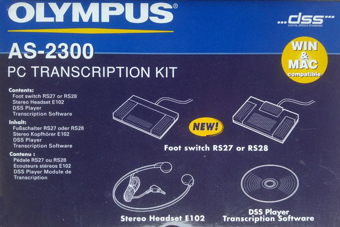 Olympus Transcription Kit, AS-2300. In original box
