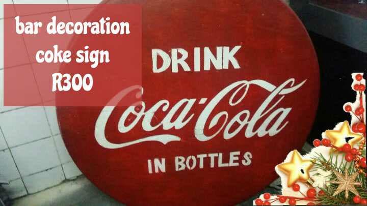 Bar decoration coke sign