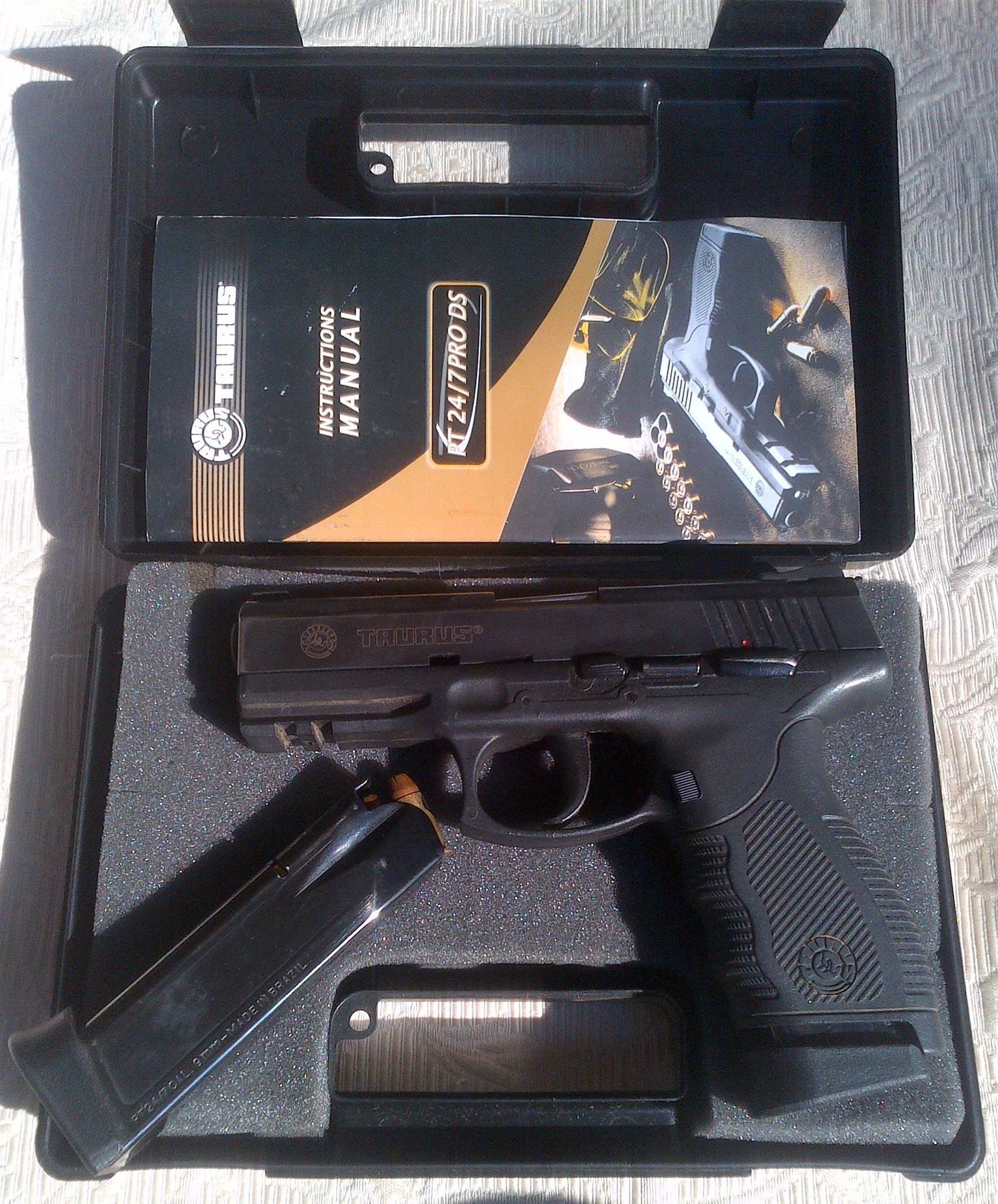 TAURUS PT24/7 DS 9mm PARA WITH 2 MAGAZINES AND ORIGINAL BOX