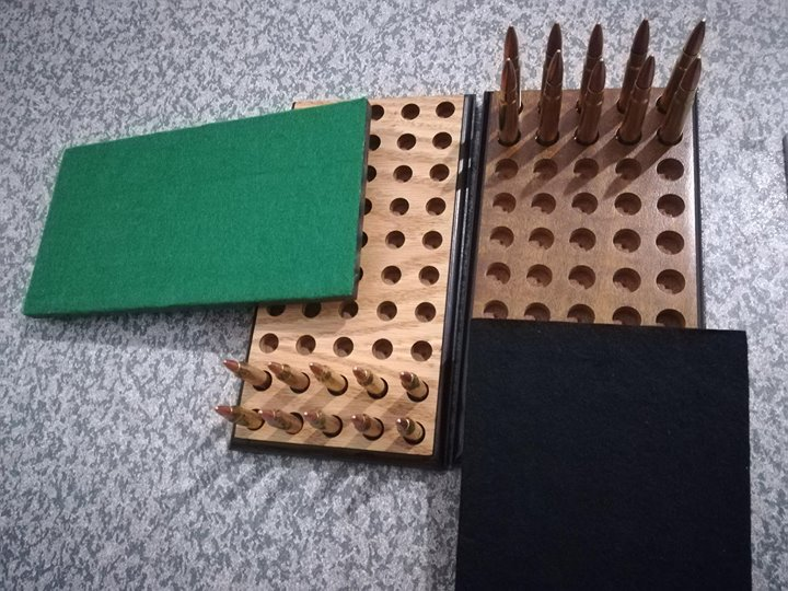Bullet holders with bullets