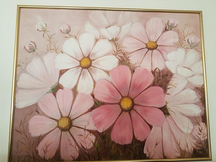 Light pink flower painting