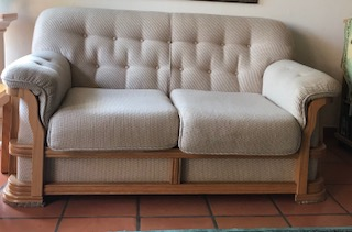 6 piece oak finished Grafton Everest lounge suite