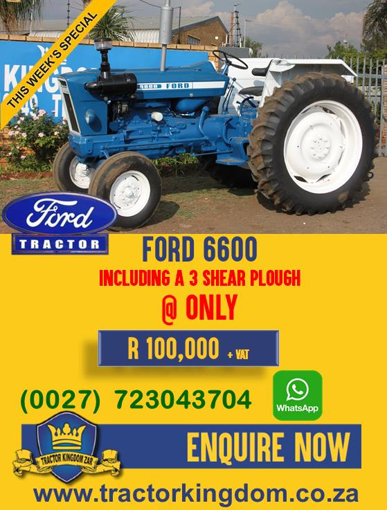 Second Hand Ford 6600 Tractor + 3 Shear Plough