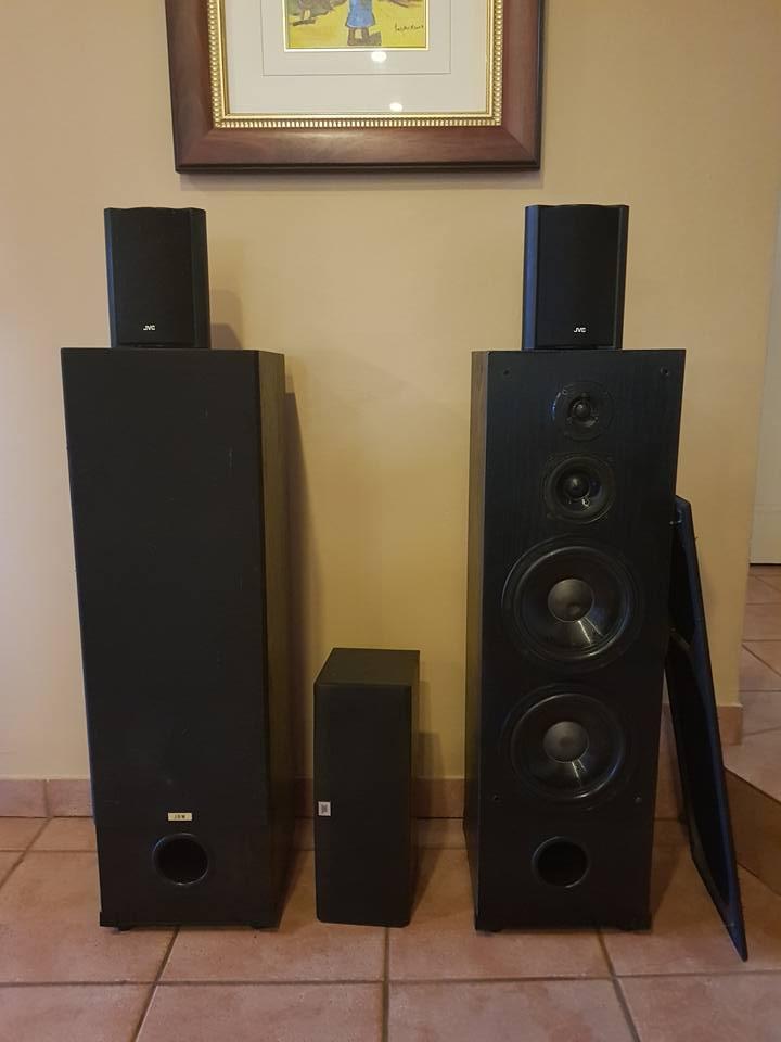 JBW, JBL and JVC speaker system