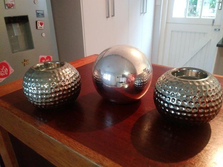 Silver decor bowls
