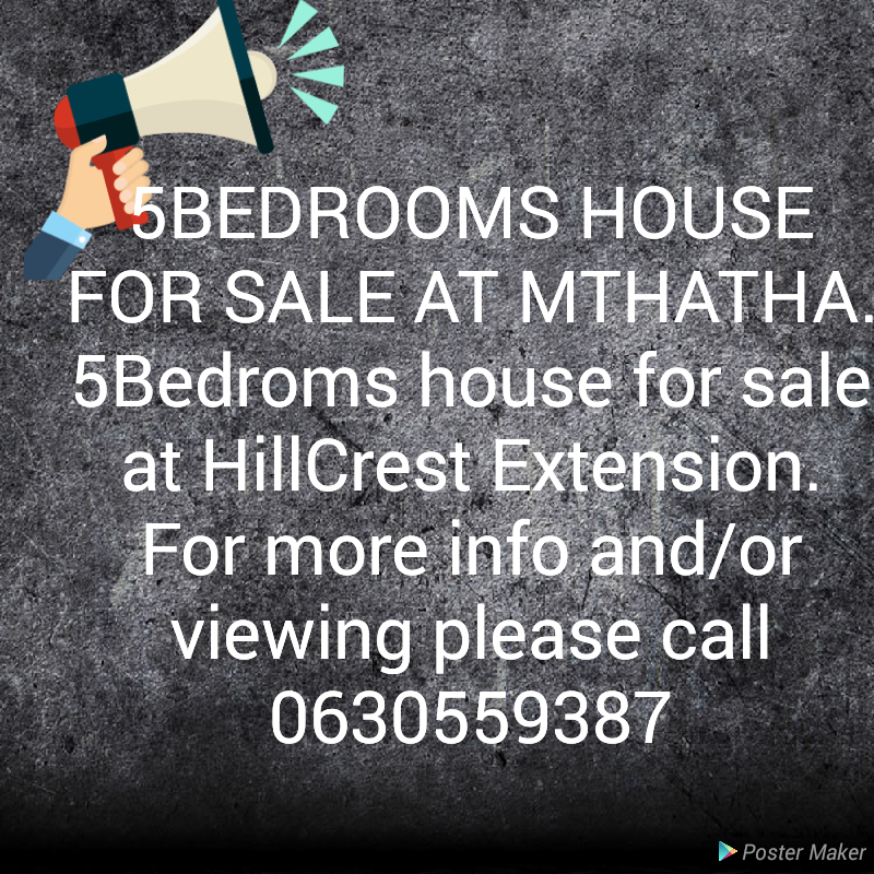 5 BEDROOMS HOUSE FOR SALE AT UMTHATHA HILLCREST EXTENSION