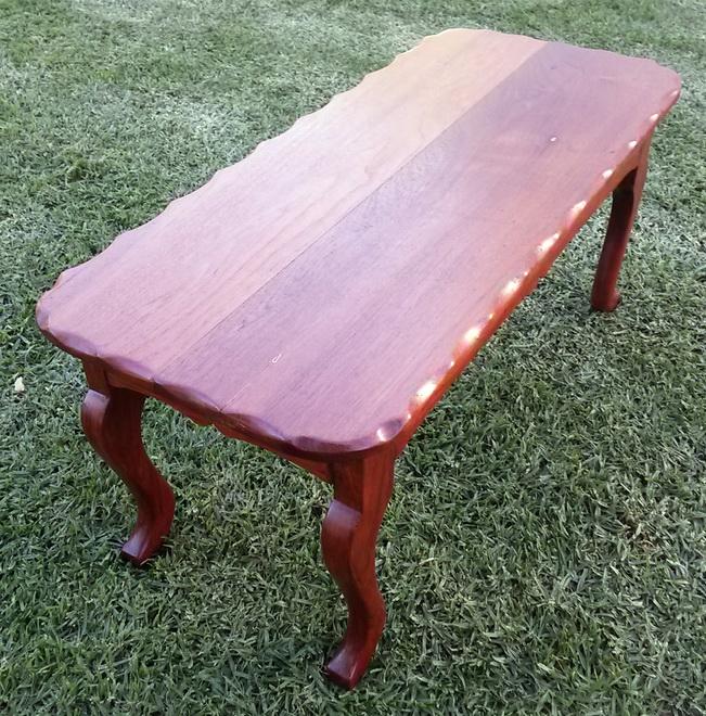 Lovely vintage Burmese Teak coffee table
